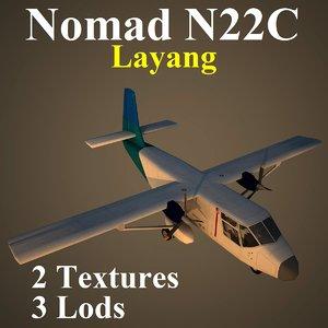 3d model gaf n22c lay