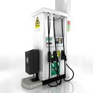 petrol fuel pump 3d model