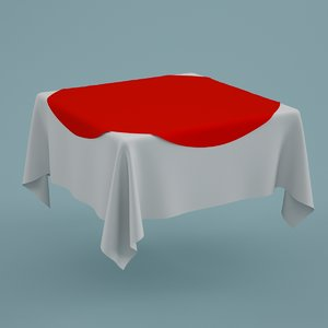 3d cloth tablecloth table model