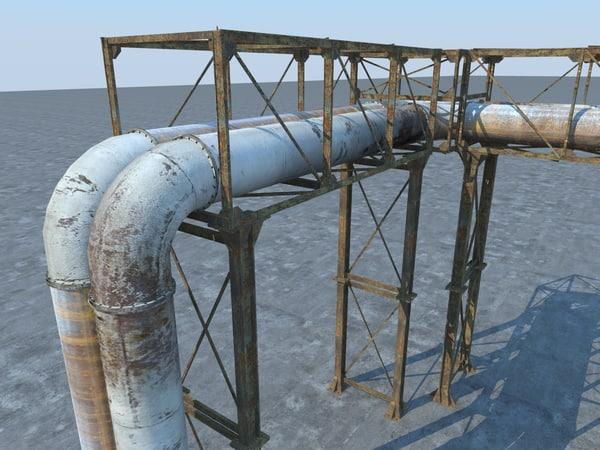pipe pipeline industrial 3d obj