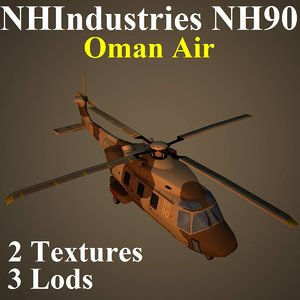 nhindustries nh90 oma helicopter 3d model