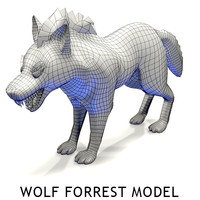 wolf forest 3d model