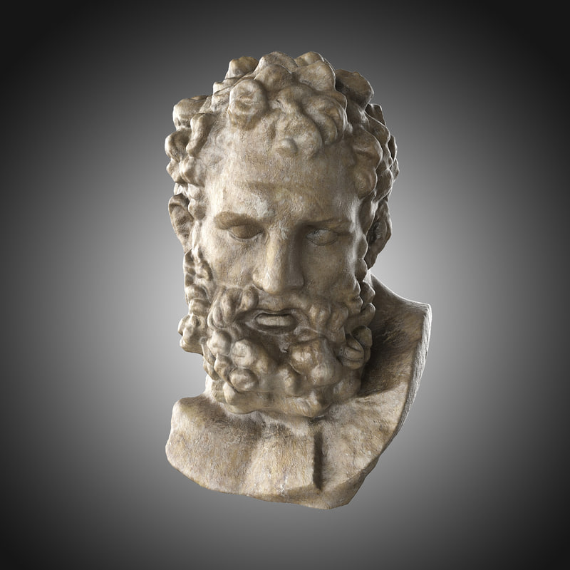heracles bust obj