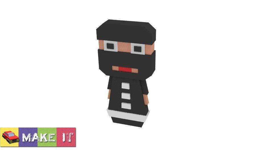 3d model cartoon ninja