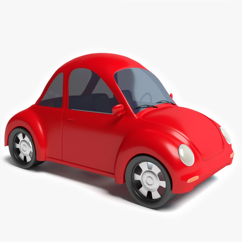 3d model cartoon car