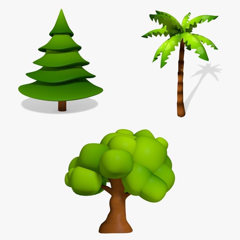 3dsmax cartoon trees