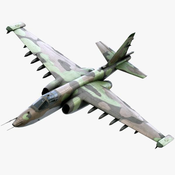 3d model su-25 frogfoot