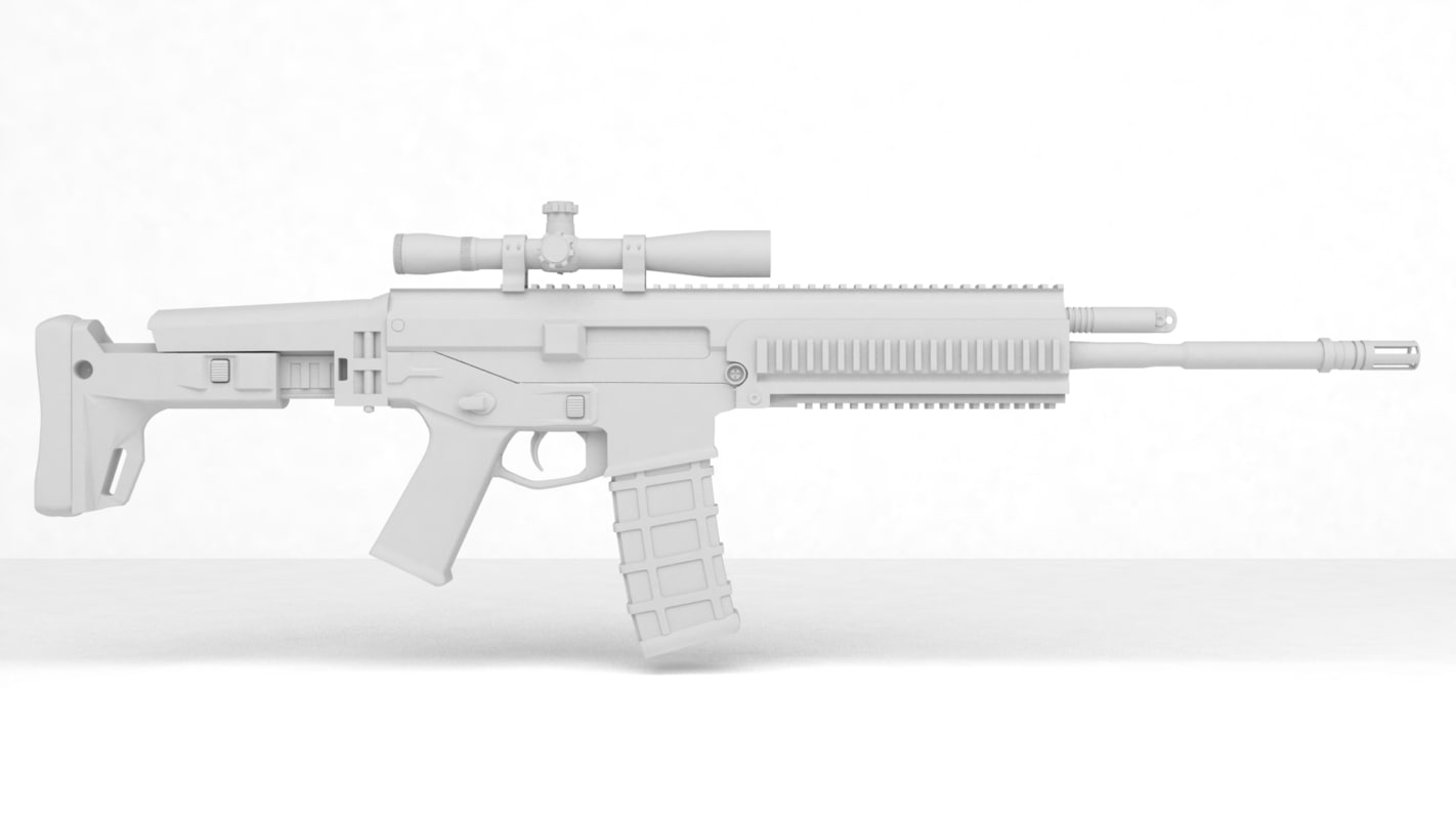3ds max acr rifle