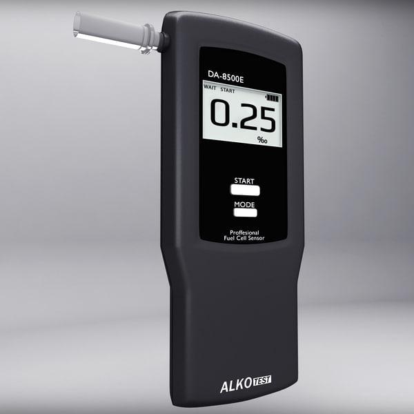 3d alcohol breathalyser model