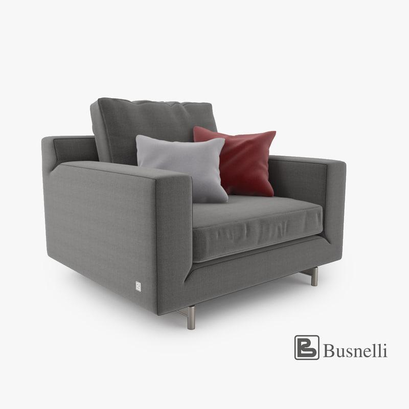 busnelli taylor armchair 3d max