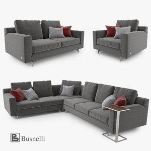 3d busnelli taylor sofa set