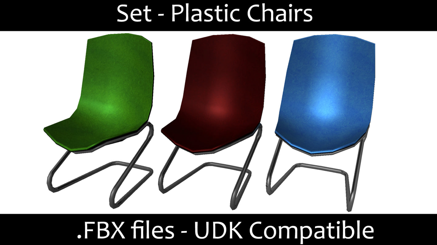 3d model chair set
