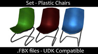 3d model chair set