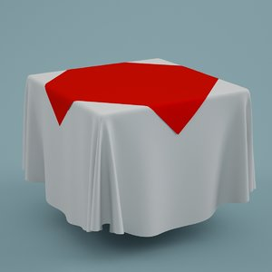 3ds max cloth tablecloth table