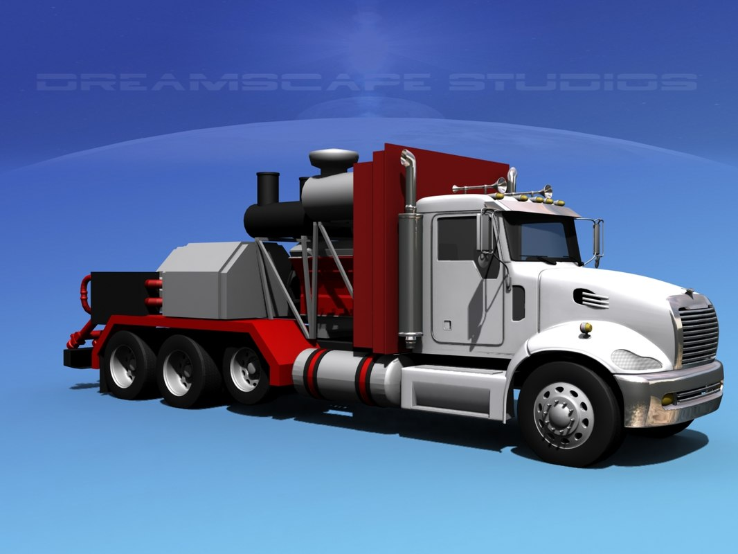 fracking pumper truck pump 3d model