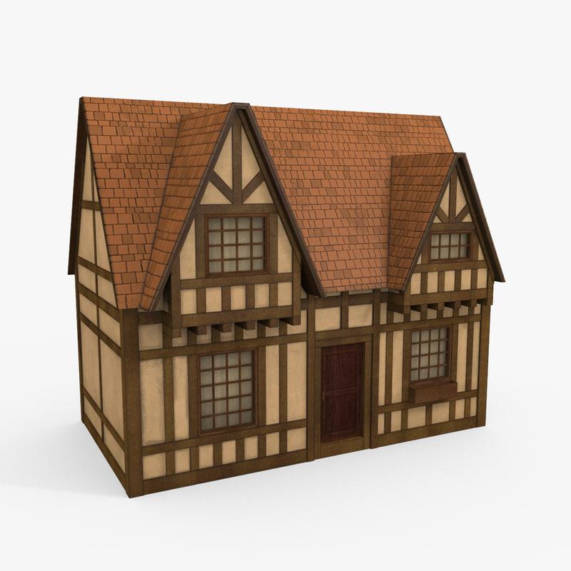 Cartoon Tudor House