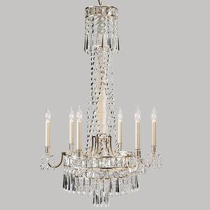 3d model paulina crystal chandelier