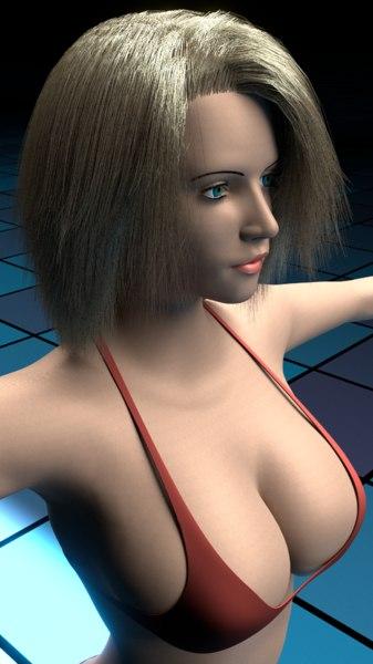 3d Girls Bikini