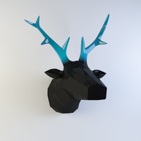 Wall statuette Deer head