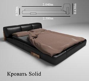 bed solid 3d max