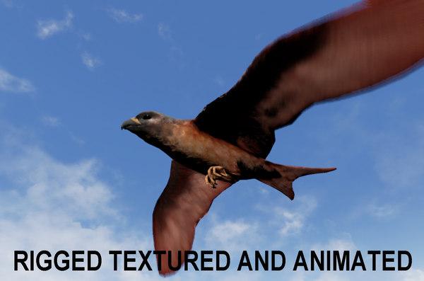 3d obj falcon animations pray