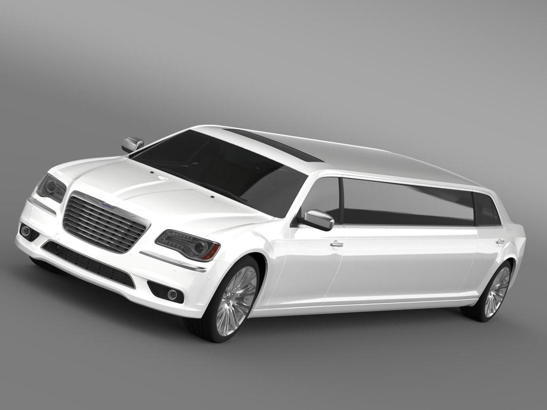chrysler 300c 2013 limousine 3d model