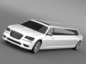 chrysler 300c 2013 limousine 3d model