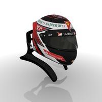 formula kimi 2015 helmet 3d max