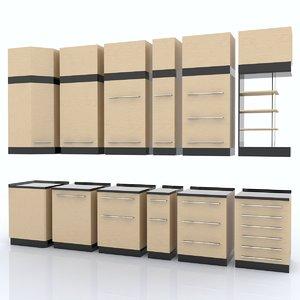 3d model kitchen shelfs