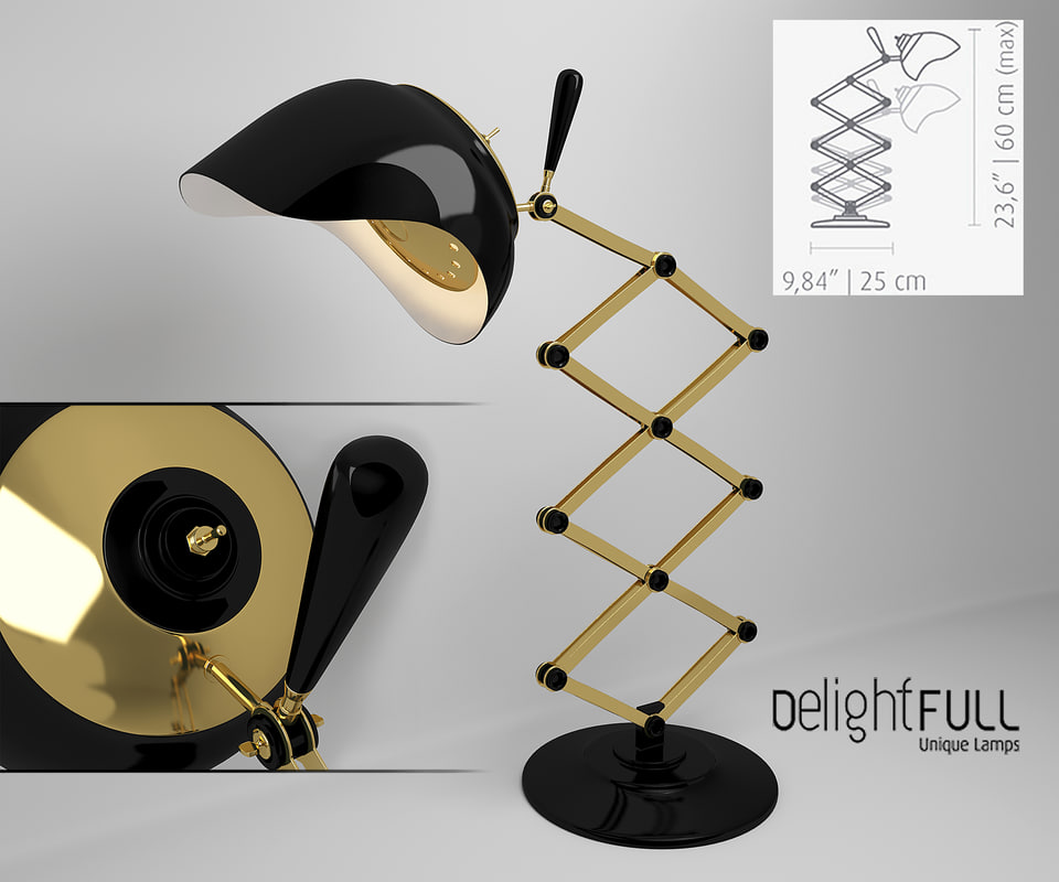 3d max table lamp billy
