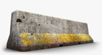 concrete barrier 3d max