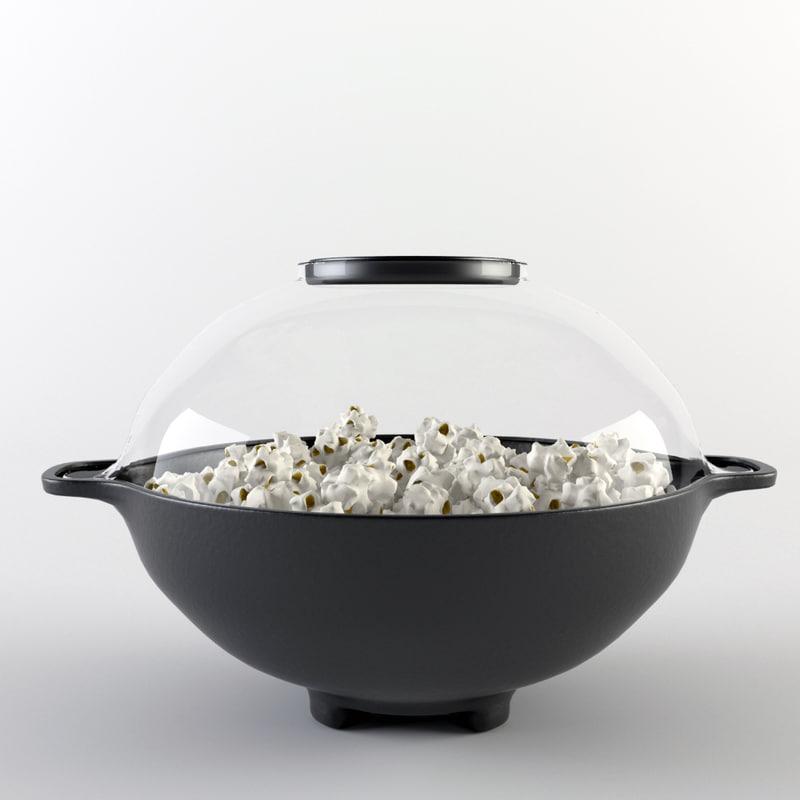 corn popcorn maker 3d max