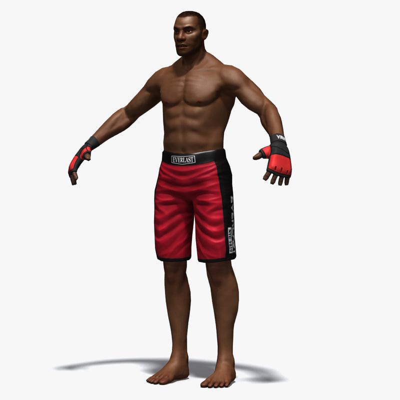 3d martial arts mma fighter model