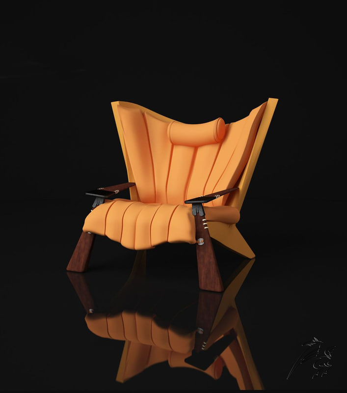 chair yellow 3ds free