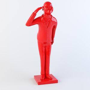 3d model statuette pleasure