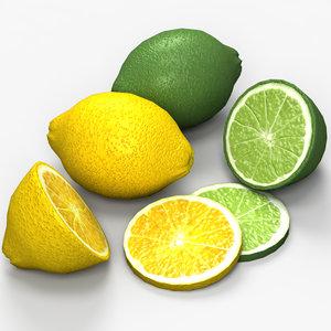 3d lemon lime