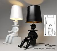 3d model table lamp clown