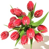 maya red tulips bouquet v3