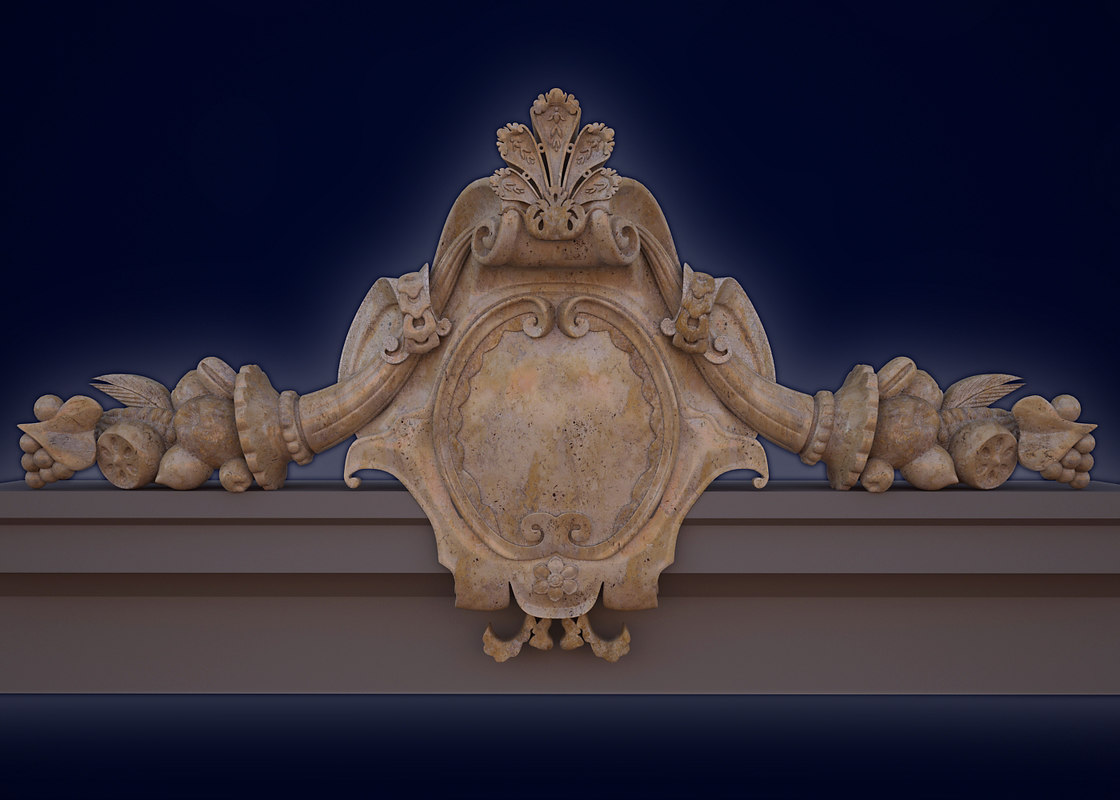 3d cartouche decor model