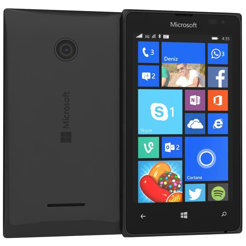 3d model of microsoft lumia 435 dual