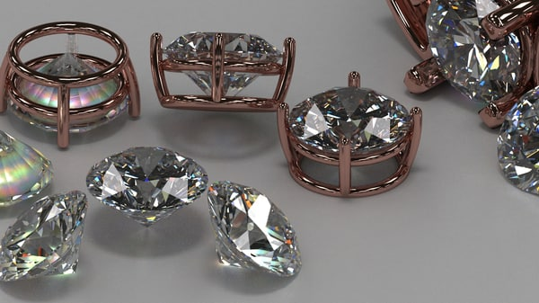3d diamond brilliant model