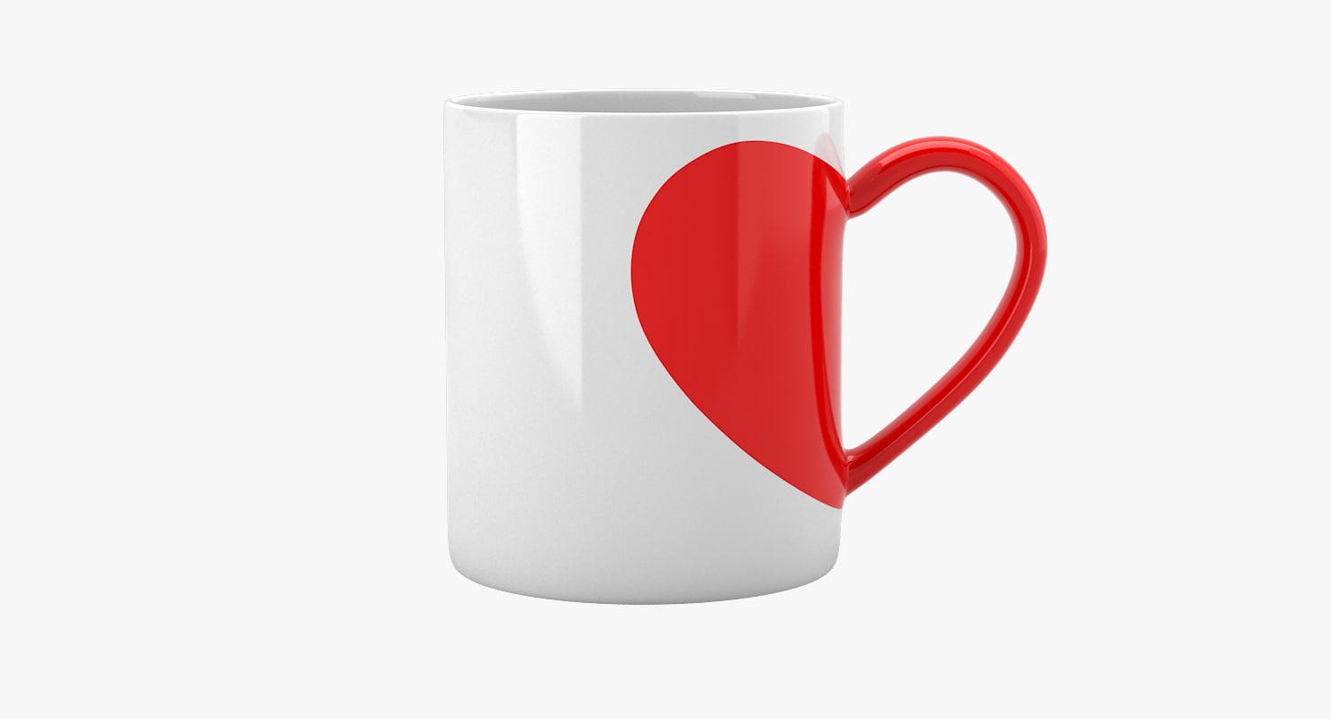 love tea cup 3d max