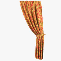 3d luxurious curtain model