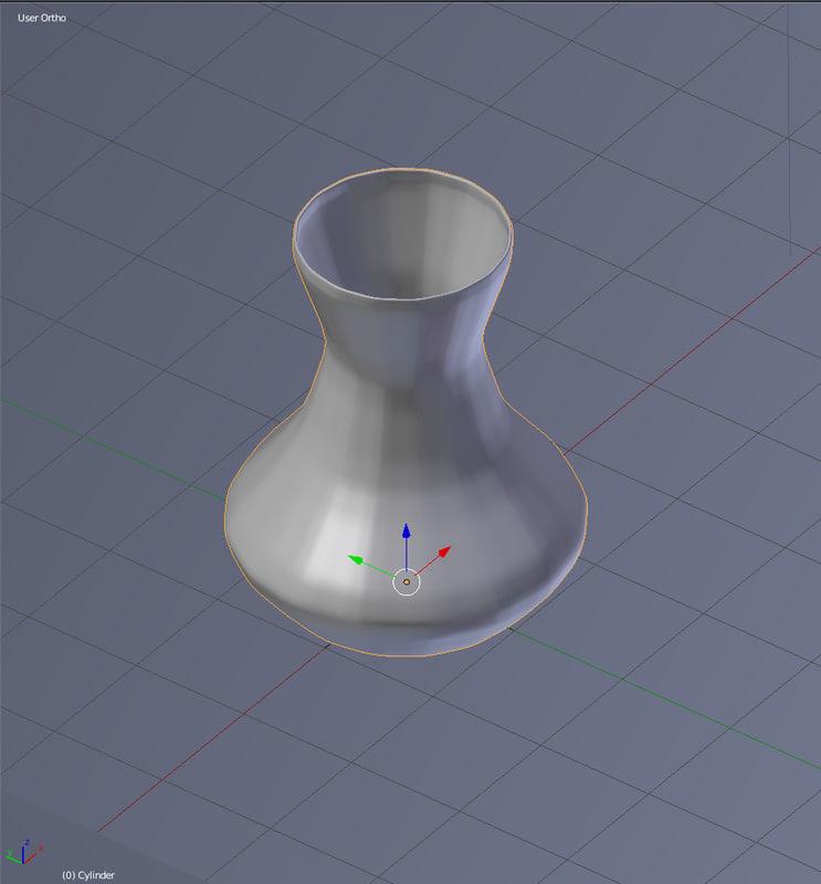 3d blender vase model
