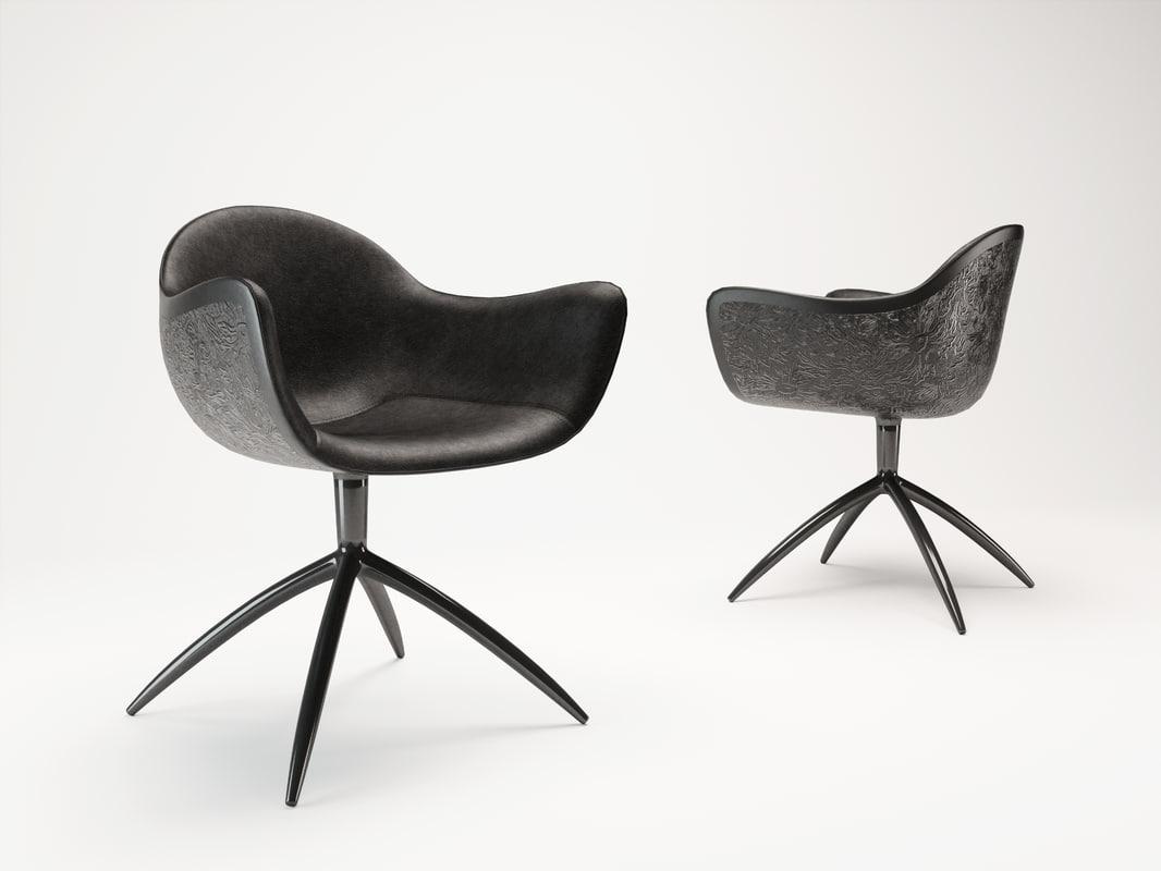 3d corona poliform chairs venus model
