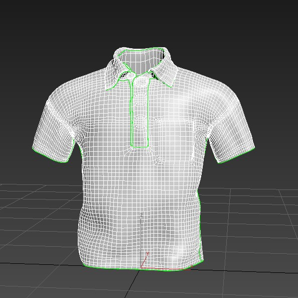 3d male polo shirt