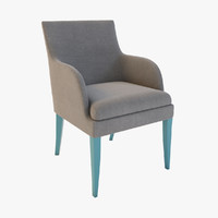 3d model onda armchair wood