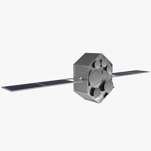 communications satellite uts 3d obj
