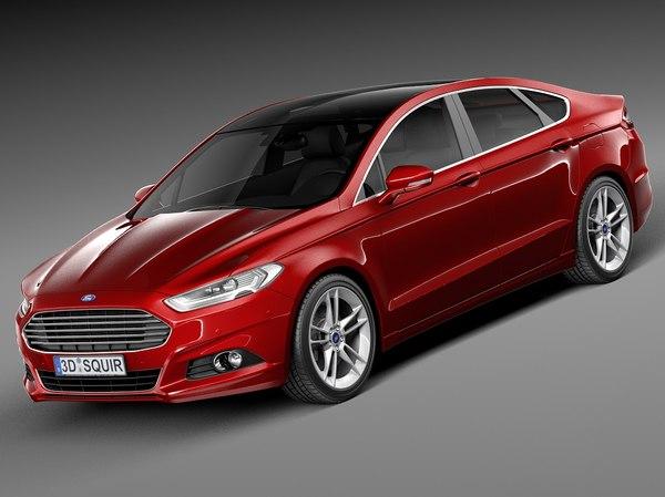 2015 sedan mondeo 3d max