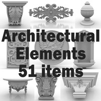architectural elements 3d 3ds